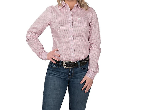 Cinch Ladies Pink Patterned Western Shirt