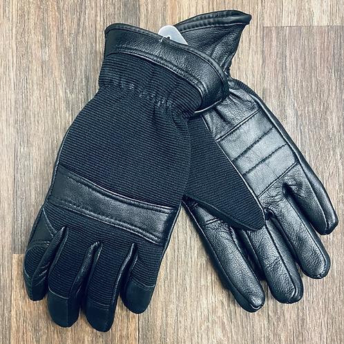 Kids Black Leather Gloves Thinsulate 40g
