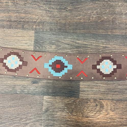 Ladies Noble Wide Aztec Fashion Belt
