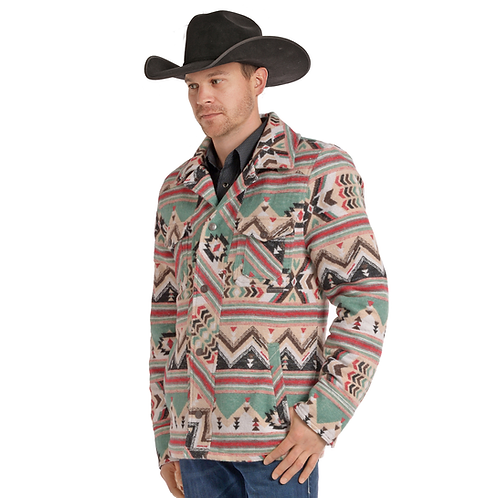 Powder River Outfitters Colorful Aztec Wool Jacket