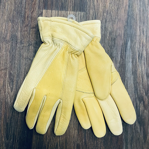 Heat Lock Lined Patched Deer Skin Gloves