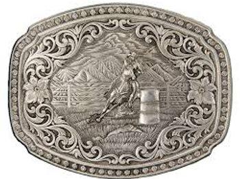 Montana Silversmith Silver Barrel Racer Buckle