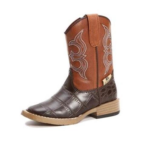 DBL Barrel Brown Rust Bronc Boots