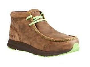 Men's Ariat Spitfire - Bomber Brown & Lime