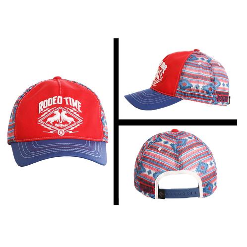 Rock & Roll Denim Dale Brisby Red 'Rodeo Time' Patch Cap