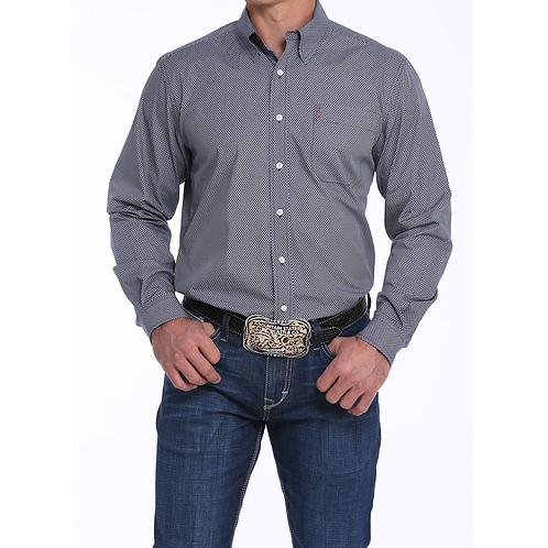 Cinch Grey & Red Checkered Western Shirt