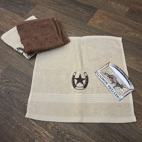 Western Moment's Wash Cloth 3pk