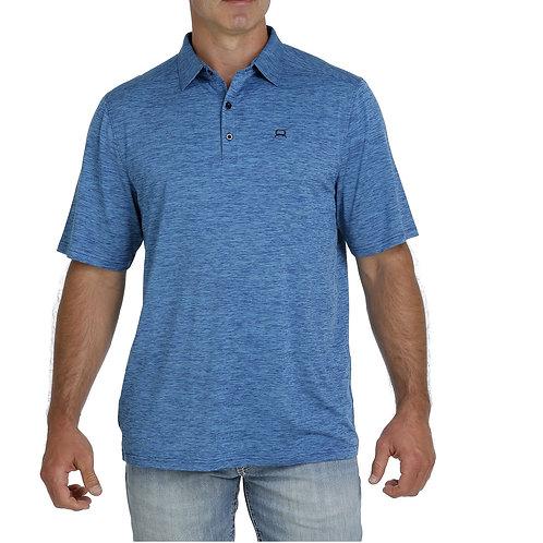 Men's Cinch ArenaFlex Polo - Heathered Blue