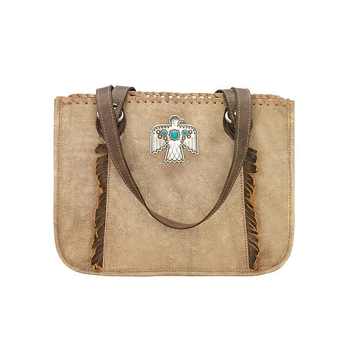 American West Thunderbird Tote in Distressed Cream