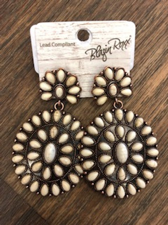 Large Ivory Stone Earrings