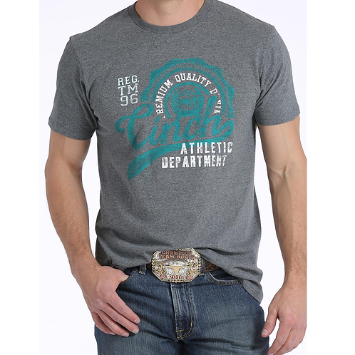 Cinch Charcoal White & Turquoise Shirt