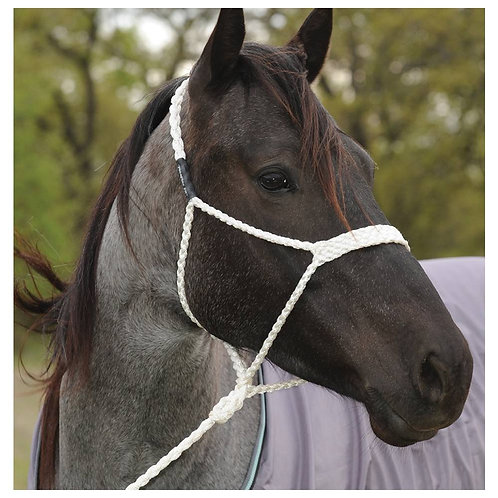 White Mule Tape Rope Halter