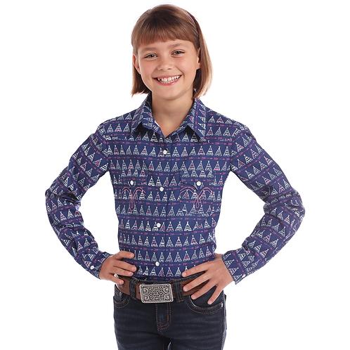 Girls Panhandle Purple Teepee Western Shirt