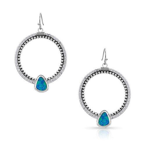 Montana Silversmith River of Lights Drop Circle Earrings