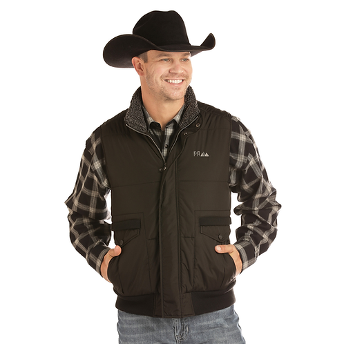 Men's Powder River Outfitters Black Puffer Vest