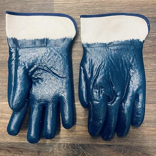 Foam Lined Blue Nitrile Gloves