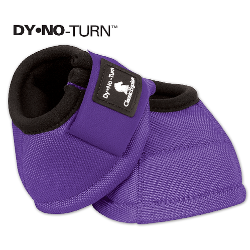 Classic Equine Dy-No-Turn Purple Bell Boots