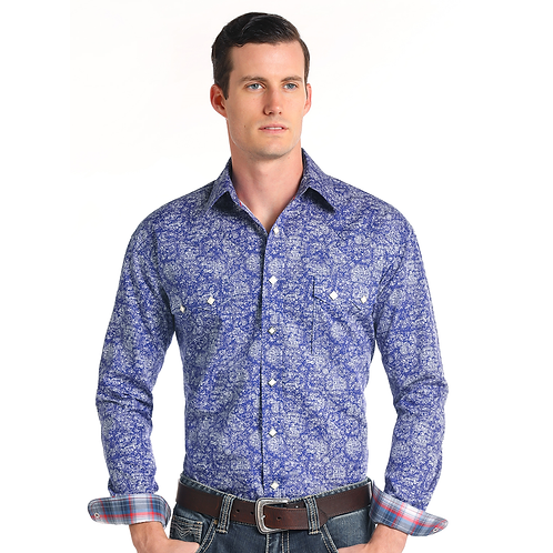 Panhandle Vintage Blue Medallion Shirt