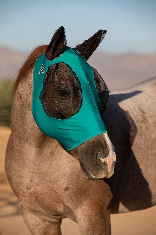 Professional's Choice Lycra Fly Mask- Teal