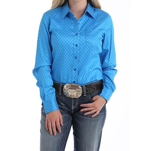 Cinch Blue Seashell Tencel Western Shirt