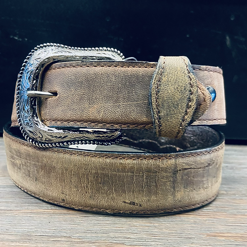Simple Tan Belt with Conchos