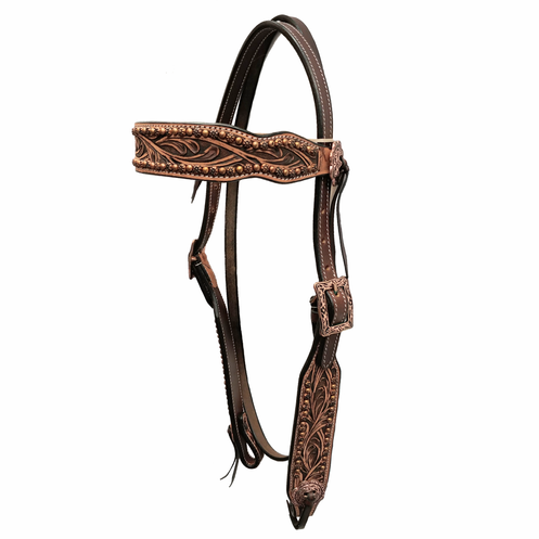 Tn Antique Tooled Copper Spots Browband