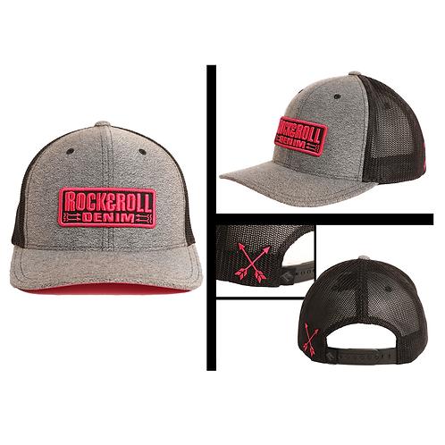 Rock & Roll Denim Black, Grey & Pink Arrow Cap