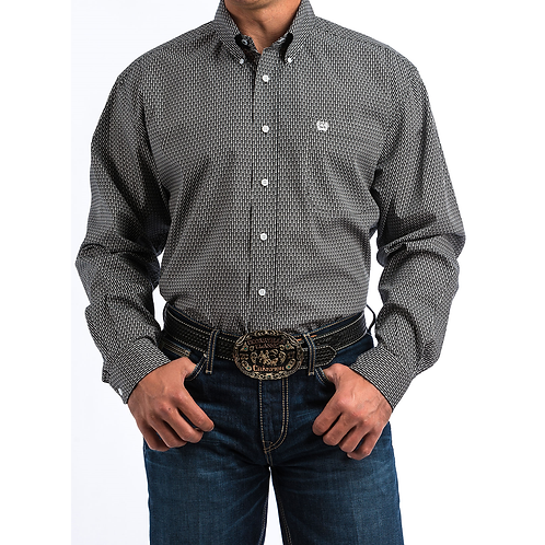 Cinch Black Falling Fish Western Shirt
