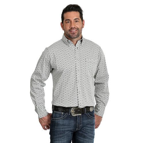 Wrangler Black & White Maze Print Western Shirt