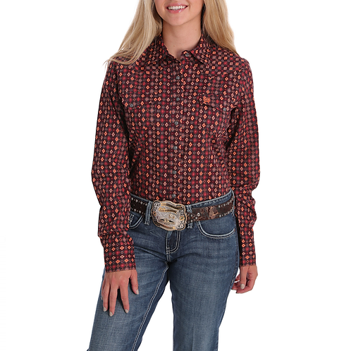 Ladies Cinch Burgundy Charm Western Shirt