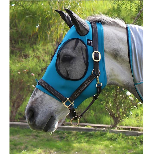 Professional's Choice Lycra Fly Mask - Pacific Blue