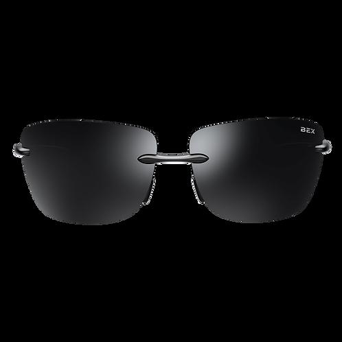 BEX Jaxyn XL Sunglasses - Black Frame, Black Lens
