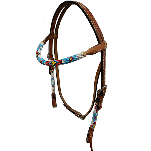 TN Multi Color Rolled Bead Brow Band