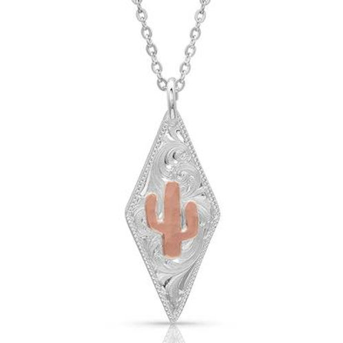 Montana Silversmith Diamond Shaped Cactus Necklace
