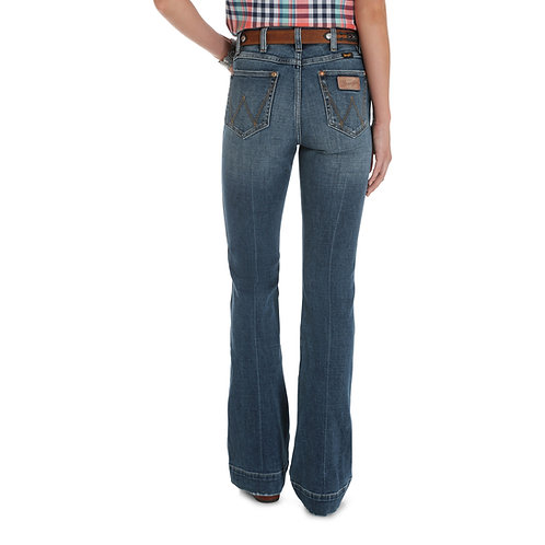 Wrangler High Rise Trouser Jeans - Laguna Beach