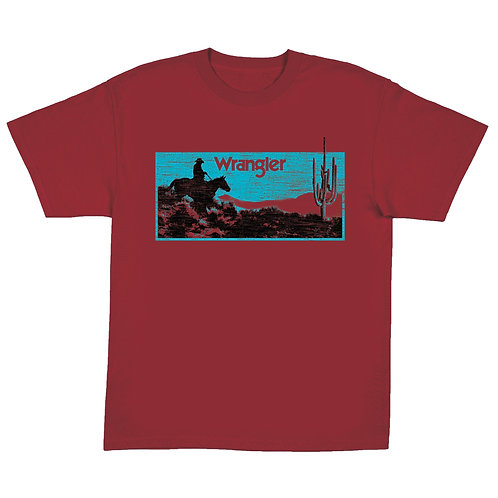 Wrangler Red & Turquoise Graphic Tee
