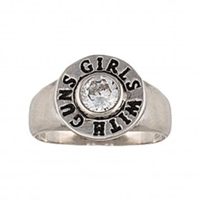 Girls With Gun®s Back of the Bullet Ring