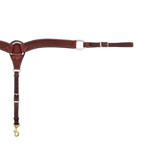 2-3/4″ Rosewood Leather Spider Stamp Breast Collar