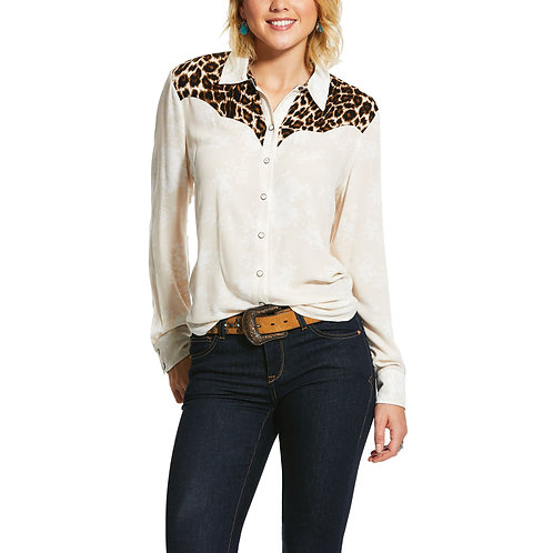 Ariat Dolly Floral Cheetah Top