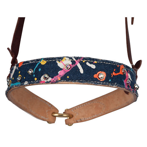 Fallon Taylor Splatter Paint Denim Noseband