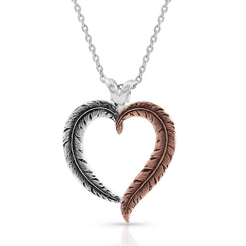 Montana Silversmith Feathered Heart Necklace