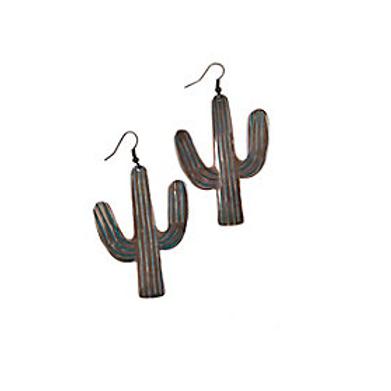 Blazin Roxx Green Cactus Earrings