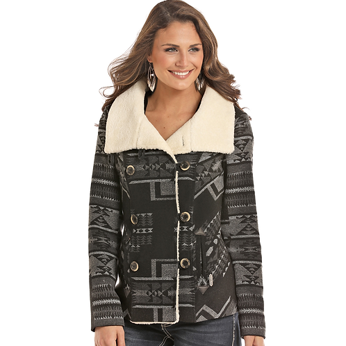 Powder River Outfitters Grey Aztec Wool Coat