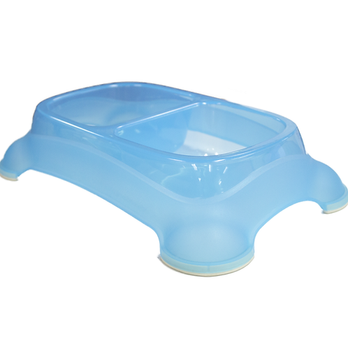 Gardner Pet Blue Double Feeder - Large