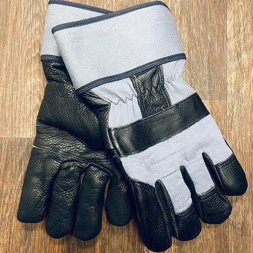 Boa Lined Grain Black Garment Gloves