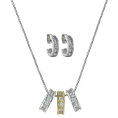 Two-Tone A Path of Star Lights Jewelry Set