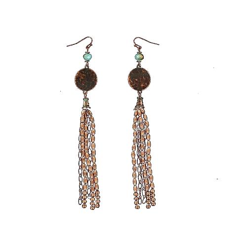 Blazin Roxx Copper Long Dangle Earrings