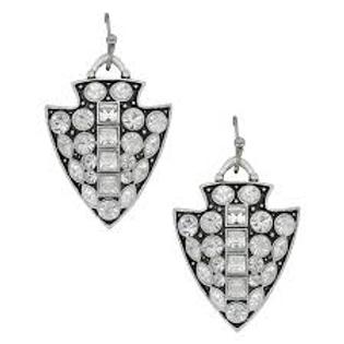 Montana Attitude Jewelry Bling Arrow Head Earrings