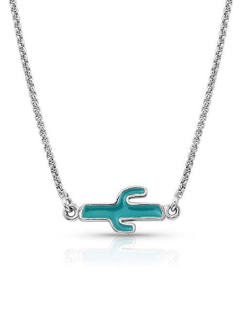 Montana Silversmith Mini Reversible Cactus Necklace