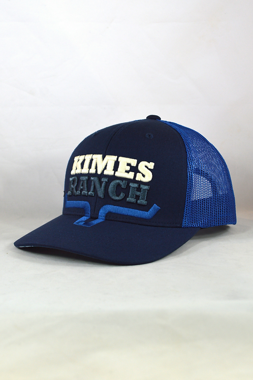 Kimes Ranch 2 Faced Trucker Cap - Navy